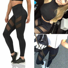 Womens High Waist Yoga Pants Printed Leggings Compression Workout Sports Trouser