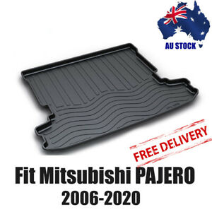 Perfect fits Mitsubishi Pajero 2006-20 Heavy Duty Cargo Rubber Mat Aussie Stock
