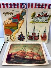 Vintage Lot Of 3 Packages Meyercord Patriotic & Bicentennial Decals Usa