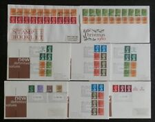 GB First day Covers Booklet Panes x 8 Items Good Covers. SPL pmks.