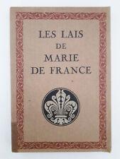 """""""Les lais de Marie de France"""" (1932)"""