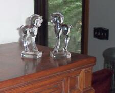 """HEISEY PAIR OF  5 1/4"""" TALL STANDING COLTS/PONY FIGURINES CIRCA 1945"""