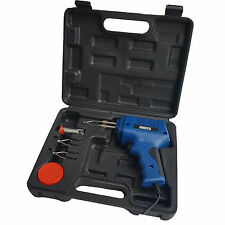175W ELECTRIC ELECTRICAL SOLDER SOLDERING IRON GUN KIT 230V -2 SPARE TIPS NEW UK