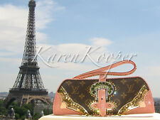 LOUIS VUITTON LES EXTRAORDINAIRES LIZARD EXOTIC SAC CLUTCH BAG EMBROIDERED ROSE