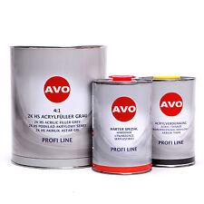AVO 2K HS 4:1 Grundier Füller grau 6 Liter Set A020240S