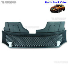 Front Grille Grill Matte Black For Nissan Navara Frontier D23 NP300 2015 - 2017