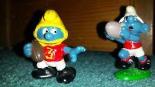 Smurf smurfs 2 Football Rugby Schleich Peyo 20150 and 20132 futball australian
