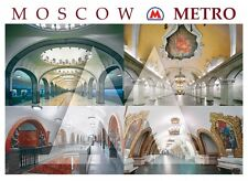 Lot 16 Modern Postcards Moscow Metro Unposted Subway Underground Russian English