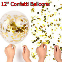 12'' Confetti Balloons 5x/Set Latex Wedding Party Baby Shower Birthday Decor