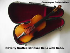 Novelty Crafted Miniture Cello with Case.AH7979.