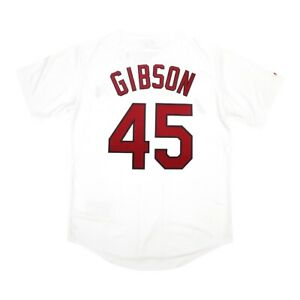 Bob Gibson Majestic St. Louis Cardinals Home White Jersey Men's (M-2XL)