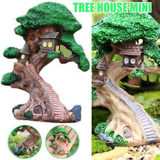Mini Elves Tree House Garden Decor Miniature Figurine Craft Fairy Plant Pot DIY