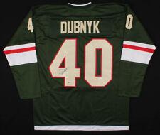 Devan Dubnyk Signed Jersey Minnesota Wild (Beckett COA) NHL Free Shipping