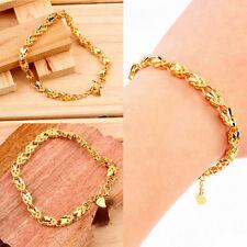 Vacuum Plating 24K Gold Angel Heart Bracelet Emulational Jewelry Bracelet WM