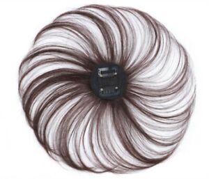 100% Human Hair Mini Topper Toupee Bangs Clip Hairpiece Top Wig for Women Men