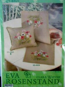 "Cross Stitch Kit Cushion Front "" Anemones "" New by Eva Rosenstand"
