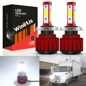 For Hino 145 165 185 258 268 338 H4 LED Headlight Light Bulb Conversion Kit