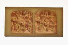 Vue stereo panoptique coloriée sur carton, Diableries : Amusements du Diable