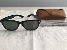 Ray Ban 2132 Wayfarer 901/58 Black Polarized Authentic Sunglasses, Case & Cloth