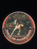 The Regent Hotel & Casino $5.00 Casino Chip - Year of The Stalking Horse