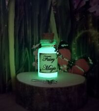 GREEN GLOW IN THE DARK fairy dust /magic, wand fairy accessories