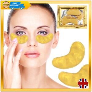 6 Crystal Collagen 24K Gold eye gel pads help Anti aging dark eye wrinkle