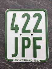 Moped - Kennzeichen, Nummernschild von 1962, Kreidler, DKW, Zündapp etc.