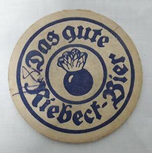 alter  Bierdeckel Das gute Riebeck Bier Brauerei Reklame Werbung Holzfilz