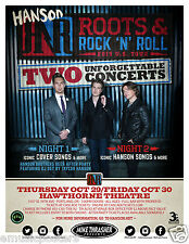 "Hanson ""Roots & Rock 'N' Roll Tour"" 2015 Portland Concert Poster- Pop Rock Music"