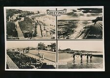 Lincolnshire Lincs Greetings from MABLETHORPE M/view used 1940 RP PPC