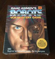 Isaac Asimov's Robots VCR Mystery Game Still Sealed 1988