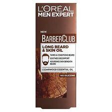 L 'Oreal Men Expert Barbero Club barba larga & Aceite de la piel, 30 Ml