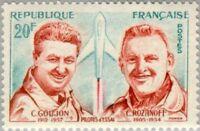 EBS France 1959 Test Pilots - Goujon & Rozanoff - Pilotes d'Essai YT 1213 MNH**