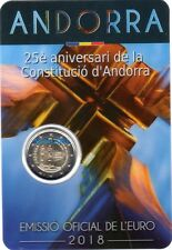 NEW !!! Coin Card 2 EURO COMMEMORATIVO ANDORRA 2018 25° Costituzione di Andorra