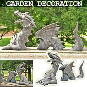 Dragon Garden Decor Statue Large Dragon Gothic Resin Ornament for Outdoor Decora