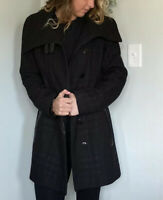 Mackage Wool Coat Jacket Leather Trim Womens Size Small