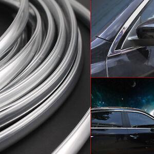 6M Chrome Moulding Trim Strip Car Door Edge Scratch Guard Protector Silver UK