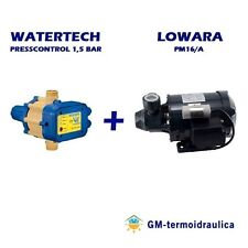 Kit Autoclave Elettropompa LOWARA PM16 Press Control WATERTECH 1,5 Motore Acqua