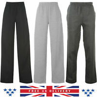Womens Joggers Tracksuit Bottoms Open Hem Fleece Ladies Trousers Jogging Pants