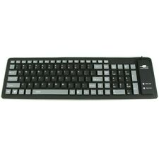 109 Keys Portable USB Flexible Foldable Washable Dustproof Keyboard PC Laptop