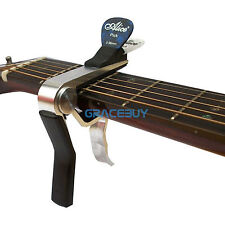 Alloy Capo For Acoustic Electric Guitar Quick Change With Pick Holder Design New