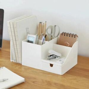 Desk Office Organizer Pen Sundries Badge Box Stationery Office School Suppliod