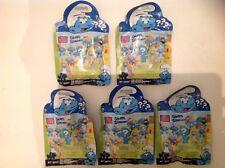 5 Mega Bloks The Smurfs Random Mini Figures Blister Packs New Unopened 10757