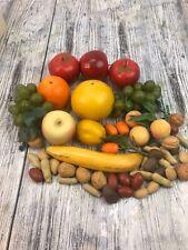 Vintage 1970's Artificial Realistic Lifelike Decor Fruit