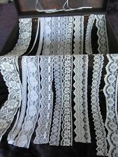 10 Metres Of Premium Quality Lace Pack 2 For Cardmaking, Sewing and Other Crafts