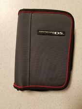 BD&A Zip Around Folio Gray Red Black Grey Multi-Color Game For DS 9D