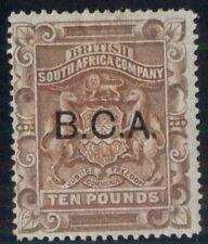 BRITISH CENTRAL AFRICA #17, £1 red brown, unused, regummed, VF, R.P.S. cert