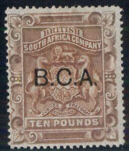 BRITISH CENTRAL AFRICA #17, £10 red brown, unused, regummed, VF, R.P.S. cert