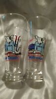 VINTAGE 1987 ANHEUSER BUSCH BUD LIGHT SPUDS MACKENZIE GLASSES WINTER OLYMPICS