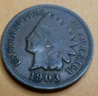 1903  Indian Head Penny Cent  Coin  #BN03